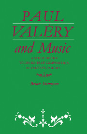 Paul Valéry and Music
