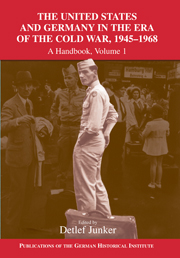 The United States and Germany in the Era of the Cold War, 1945–1990