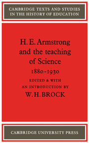 H. E. Armstrong and the Teaching of Science 1880–1930