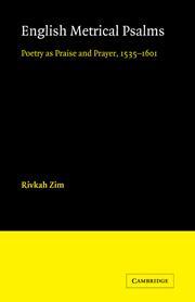 English Metrical Psalms