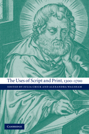 The Uses of Script and Print, 1300–1700