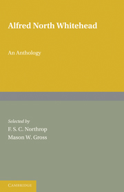Alfred North Whitehead: An Anthology