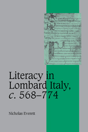 Literacy in Lombard Italy, c.568–774