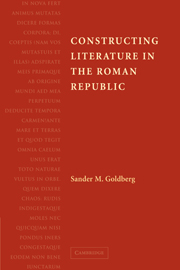 Constructing Literature in the Roman Republic