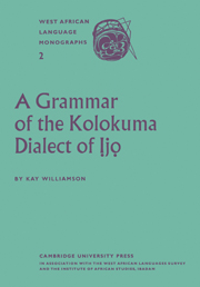 A Grammar of the Kolokuma Dialect of Ịjọ