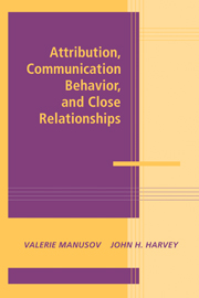 Attribution, Communication Behavior, and Close Relationships
