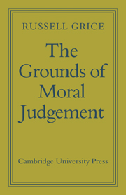 The Grounds of Moral Judgement