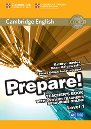 Cambridge English Prepare! Level 1 Teacher's Book with DVD and Teacher's Resources Online