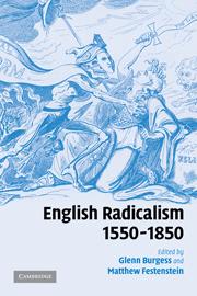 English Radicalism, 1550–1850