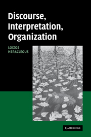 Discourse, Interpretation, Organization