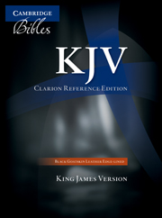 KJV Clarion Reference Bible, Black Edge-lined Goatskin Leather, KJ486:XE