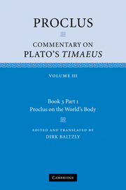 Proclus: Commentary on Plato's Timaeus
