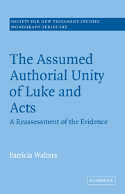 The Assumed Authorial Unity of Luke and Acts
