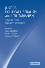 Justice, Political Liberalism, and Utilitarianism