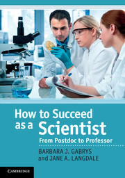 How to Succeed as a Scientist