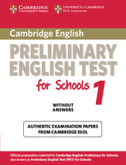 Cambridge PET for Schools 1