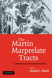 The Martin Marprelate Tracts