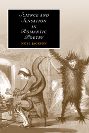 Science and Sensation in Romantic Poetry