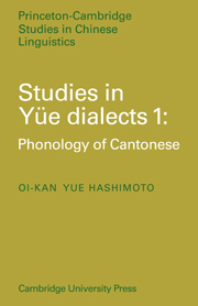 Studies in Yue Dialects 1