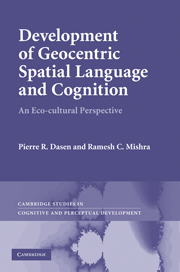 Development of Geocentric Spatial Language and Cognition