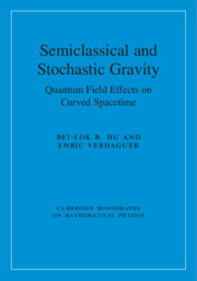 Semiclassical and Stochastic Gravity