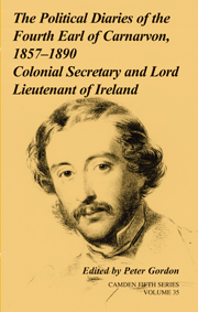 The Political Diaries of the Fourth Earl of Carnarvon, 1857–1890