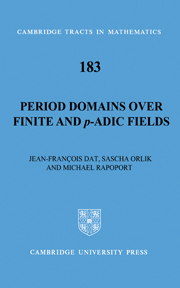 Period Domains over Finite and p-adic Fields