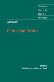 Aristotle: Eudemian Ethics