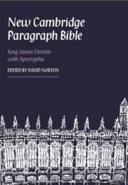 New Cambridge Paragraph Bible with Apocrypha KJ595:TA