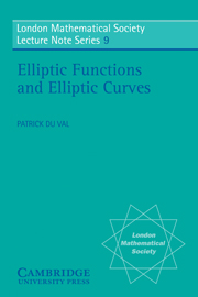 Elliptic Functions and Elliptic Curves