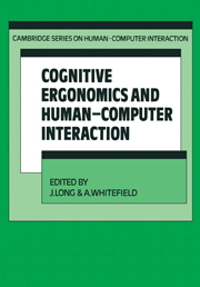 Cognitive Ergonomics and Human-Computer Interaction