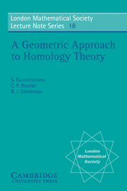A Geometric Approach to Homology Theory