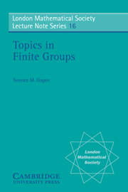 Topics in Finite Groups