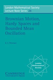 Brownian Motion, Hardy Spaces and Bounded Mean Oscillation