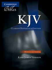 KJV Clarion Reference Bible, Brown Calfskin Leather, KJ485:X