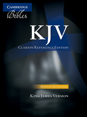 KJV Clarion Reference Bible, Black Calf Split Leather, KJ484:X