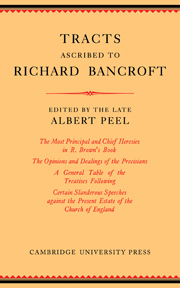 Tracts Ascribed to Richard Bancroft