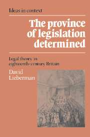 The Province of Legislation Determined
