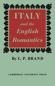 Italy and the English Romantics