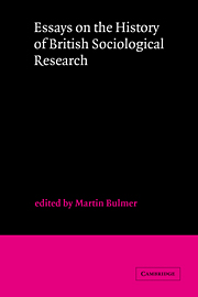 Essays on the History of British Sociological Research
