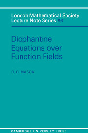 Diophantine Equations over Function Fields