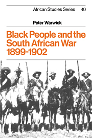 Black People and the South African War 1899–1902