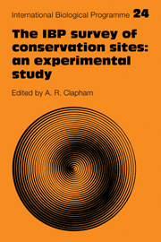 The IBP Survey of Conservation Sites: An Experimental Study