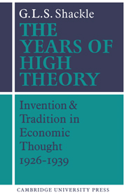 The Years of High Theory