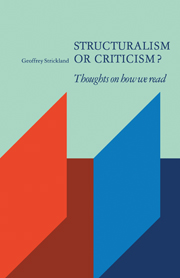 Structuralism or Criticism?