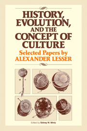 History, Evolution and the Concept of Culture
