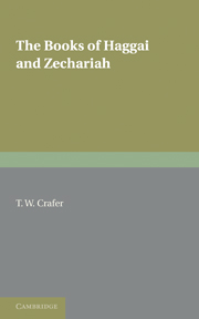 The Books of Haggai and Zechariah