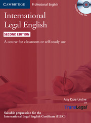International Legal English 2nd Edition
