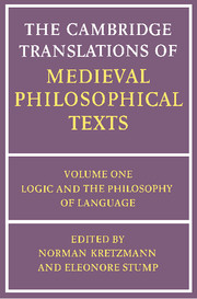 The Cambridge Translations of Medieval Philosophical Texts