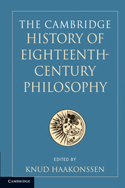 The Cambridge History of Eighteenth-Century Philosophy